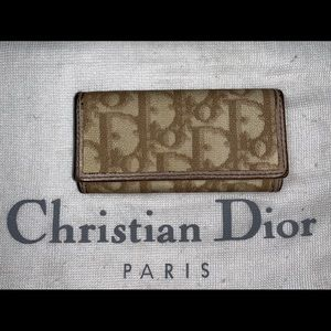 Authentic Christian Dior trotter 4 key case wallet